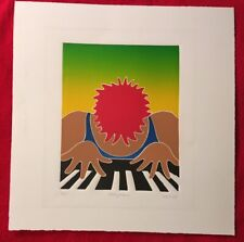 Thom De Jong, Rock Piano, Original Relief Print, Signed, Numbered, 3/175