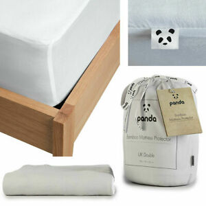 Panda Antibacterial And Hypoallergenic Bamboo Mattress Protector in 5 Sizes -NEW