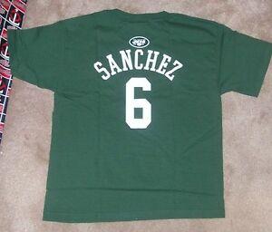 NEW NFL NY New York Jets Mark Sanchez Jersey Style T Shirt Youth Boys L Large 14