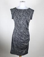 ANN TAYLOR gray sheath sleeveless knee-length dress PS