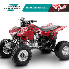 HONDA TRX450 TRX450R GRAPHICS KIT DECALS STICKERS RED/WHITE PERFECT FIT