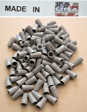 (1000 pc) NEW P1 Gray Screw-On Nut Wire Connector STRAIGHT BARREL Grey USA