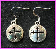 New BRIGHTON Sanctum Cross 'CANTERBURY' custom 925 earrings with FREE SHIPPING !