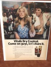 """1973 """"Come On Guys Let's Share it""""  Vitalis Dry Control Print Ad - Pete Rose"""