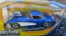 1957 CORVETTE  '57 CHEVY CHEVROLET JADA BIGTIME 1:24 MIP BLUE BLOWN VETTE