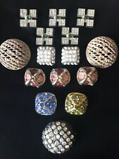 New listing Colorful Top Quality Vintage Buttons Rhinestones In Metal Group
