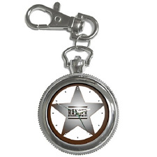 RANGER STAR BADGE TEXAS RANGER OLD WEST ROUND KEYCHAIN WATCH **GREAT GIFT IDEA**