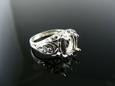 2805 Ring Setting Sterling Silver, Size 4.5, 7x5 Mm Oval Stone