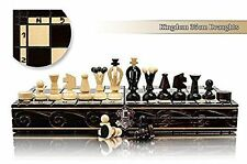 STUNNING Kingdom 36cm Draughts - Chess and Checkers Wooden Set BARGAIN