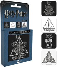 Harry Potter Coaster Set Deathly Hallows Official Merchandise