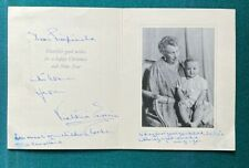 More details for antique spanish royal signed christmas card queen victoria eugenia spain 1961