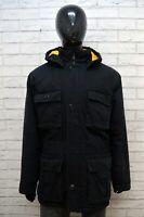 WRANGLER Uomo XL Parka Giacca Cappotto Giubbotto Nero Giaccone Jacket Man Black