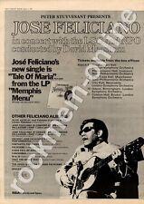 Jose Feliciano Memphis Mule City Hall, Newcastle MM3 LP/Tour advert 1973