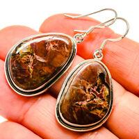 """Butterfly Jasper 925 Sterling Silver Earrings 1 3/4"""" Ana Co Jewelry E412102"""