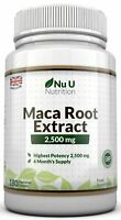 Maca Root 2500mg 180 Capsules Double the Strength Sexual health libido UK made