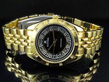 Ladies Genuine Diamond Icetime Watch PR-03 Black Dial Yellow Gold Finish .10ct
