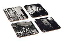 David Bowie Ziggy Stardust Photo Shoot 4 Piece Wooden Coaster Set