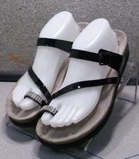 HARRIET BLACK LMPFSAJ50A Women's Shoes Size 10 M Patent Leather Sandals Mephisto