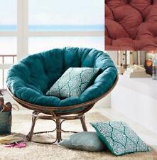 Rattan Man Brand Papasan Chair With Burgundy Cushion From American