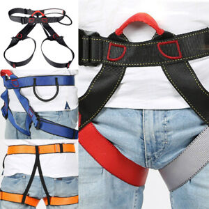 Outdoor Rock Safety Climbing Rappelling Harness Seat Waist Belt Protection Gear