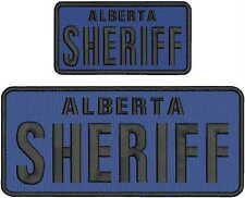 ALBERTA SHERIFF EMBROIDERY  PATCH 4.75X11&3X6 HOOK ON BACK ROYA/BLK