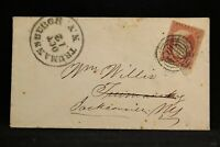 New York: Trumansburgh 1859 (circa) #26 Cover, Fancy Cancel (Simpson Listed)