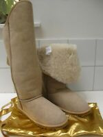 NEW Ladies Love From Australia Jezebel Tall sheepskin suede Boots 6 39 shearling