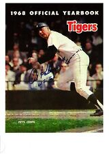 Al Kaline autograph on Cover of 1968 World Series Yearbook - very Rare!