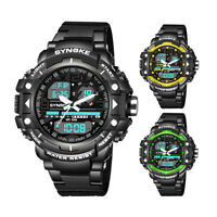 SYNOKE Waterproof Digital Sports Watches Mens Analog Quartz Military Wrist Watch