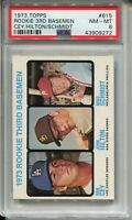 1973 Topps #615 Baseball Mike Schmidt Rookie Card RC Graded PSA NM MT 8 Phillies