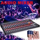 8/12/16 Channel  Professional Live Studio Audio Mixer Power Mixing Amplifier US photo