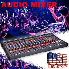 8/12/16 Channel  Professional Live Studio Audio Mixer Power Mixing Amplifier US