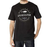 Quiksilver Men's T-Shirt Black Size Large L Crewneck Graphic Tee $28 #259