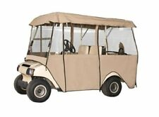 """Golf Cart Enclosure 4 Person Fairway Fits Long Roof Dimension up to 80"""" L Khaki"""