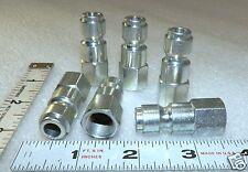 "3/8"" x 1/4"" FNPT ( 6 )Pcs Tru flate style Air Couplers female Plugs DynaCon P840"