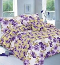 Meadow Floral Luxury Duvet Covers Quilt Cover Reversible Bedding Sets All Sizes King Grey