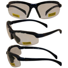 C2 Safety Shop Glasses with Blue Frame and Clear Lenses