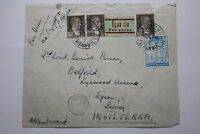 RARE Sir Anthony Derrick Parsons UK TURKEY TO ENGLAND 1940 CENSOR A95 RAIR186