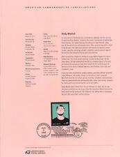 #0225 37c Andy Warhol Stamp #3652 Souvenir Page
