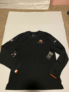 Cincinnati Bengals Nike Dri-Fit Crew Neck Sweatshirt Men's Size: Large NWT 2019