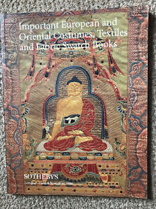 Sotheby's Important European & Oriental Costumes, Textiles & Fabric Swatch Books