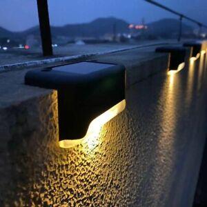1/4/8/16pcs LED Solar Lamp Path Stair Outdoor Waterproof Wall Light Garden Light