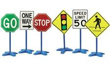 road Traffic Signs Set of 6 Kids pretend play - New