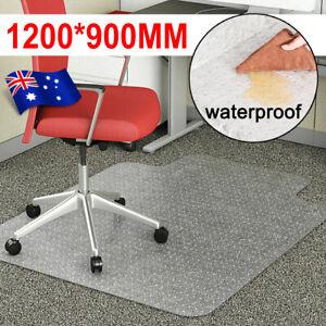 Office Home Computer Work Chair Mats Carpet Floor Pads PVC Plastic 1200x900mm AU