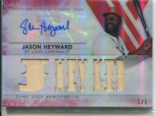 2015 TOPPS TRIPPLE THREADS JASON HEYWARD AUTO  RELIC CARD 1/1