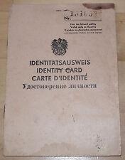 Dokument / Identitätsausweis Österreich Bez. Ried 1946