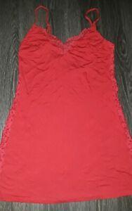 Victoria secret super soft lace detail slip new size XS red