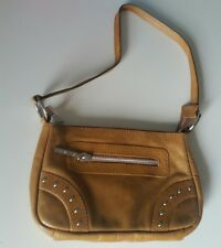 Suzy Smith handbag genuine tan leather small with studs New without tags