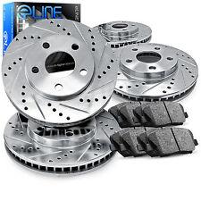 Brake Rotors FULL KIT ELINE DRILLED SLOTTED & PADS -Mazda 6 2003 - 2005