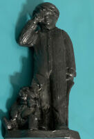 Michael Ricker Pewter Hand Crafted Figurine Boy Crying 12,935 Boy With Bunny